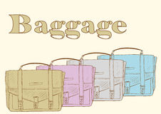 Bags with baggage Royalty Free Stock Photography