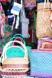 Bags and basket Royalty Free Stock Photography