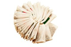 Bags of black tea Stock Images