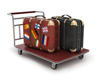 Bags on a cart Royalty Free Stock Image