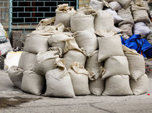 Bags of cement Stock Photography