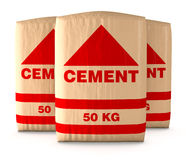 Bags of cement Royalty Free Stock Images