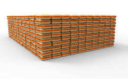 Bags of cement isolated on white with a clipping path Royalty Free Stock Image