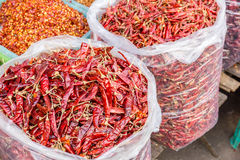 Bags of Chilis Royalty Free Stock Photo