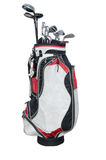 Bags of clubs Royalty Free Stock Photography