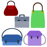 Bags collection Royalty Free Stock Photos
