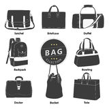 Bags collection set Stock Photography