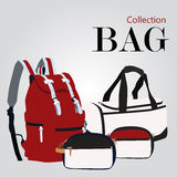 Bags collection set Royalty Free Stock Images