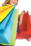Bags color shopping happy woman Royalty Free Stock Photo