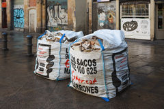 Bags of debris Royalty Free Stock Images