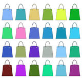 Bags of different colors. Raster Royalty Free Stock Image