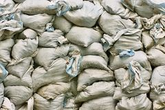 Bags with dry garbage Royalty Free Stock Photography