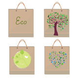 Bags eco design - paper texture Stock Image