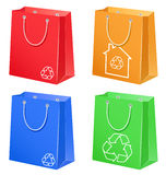 Bags with eco symbol Stock Photos