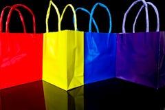 bags färgrik shopping Royaltyfri Fotografi