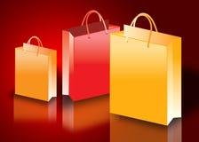 bags färgrik shopping Arkivbild