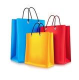 bags färgrik shopping royaltyfri illustrationer
