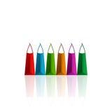 bags färgrik shopping Royaltyfria Bilder