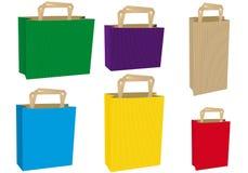 bags färgrikt royaltyfri illustrationer