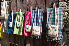 Bags and Fabric Royalty Free Stock Photography