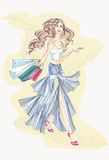 bags fashion shopping woman Διανυσματική απεικόνιση