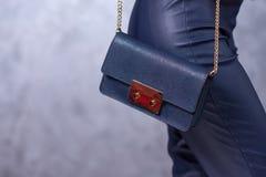 Bags fashion trends. Close up of gorgeous stylish bag. Fashionab Stock Images