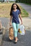 bags flickasallyshopping Royaltyfri Fotografi