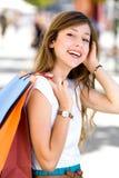 bags flickashopping Fotografering för Bildbyråer