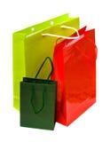 bags färgrik shopping Arkivbilder