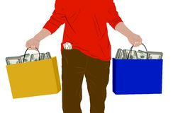 Bags full of money Stock Photo