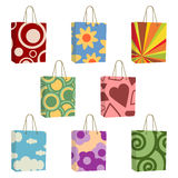 Bags with funky designs Royalty Free Stock Photography