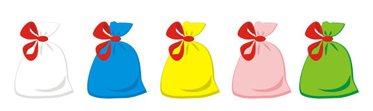 Bags with gifts Royalty Free Stock Photo
