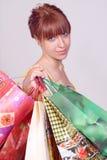 bags girl shopping Στοκ Φωτογραφίες