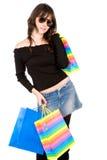 bags girl shopping Στοκ Εικόνες