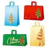 bags glad xmas för jul Royaltyfria Bilder