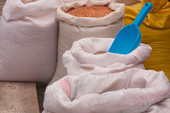 Bags of Grain from the Market Royalty Free Stock Photo