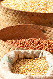 Bags of grain for sale Royalty Free Stock Photo