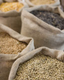 Bags with grains Royalty Free Stock Photos