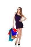 bags härliga gåvor som shoppar kvinnabarn Fotografering för Bildbyråer