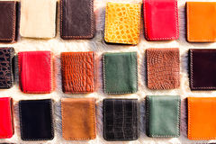 Bags handmade of leather Stock Photography