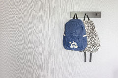 Bags hanging on hook Royalty Free Stock Image