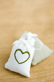 Bags with heart symbol Stock Photography