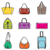 Bags icon set. Vector illustration of bags on white background Stock Photo
