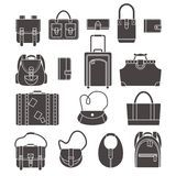 Bags icons set Stock Images