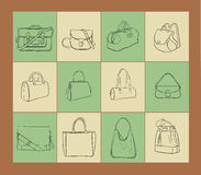 Bags  illustration set Royalty Free Stock Images