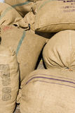 bags kaffe Arkivbild