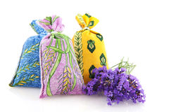 Bags with Lavender from the Provence Stock Images