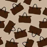 Bags on a light brown background. Travel bags on a light brown background Stock Illustration