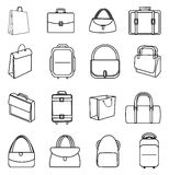 Bags line icons set Stock Photos