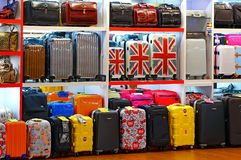 Bags and luggage store. A store displaying fashion brands of luggage and travel bags. location : tsim sha tsui ferry station, kowloon, hong kong Stock Images